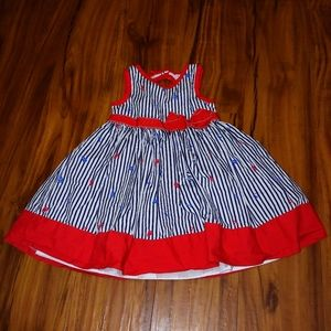 Girls nautical themed dress